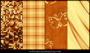 Warm Amber Patterns Part 3 by WebTreatsETC