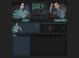 Lily Collins Ordered Layout by lenkamason