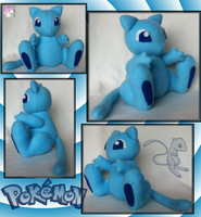 Shiny Mew Plushie by Ami-Plushies