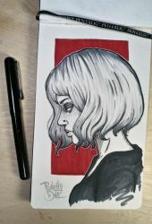 Inktober Dead Doll Drawing by punchyone