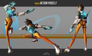 OVERWATCH Tracer Action Poses 2 by JPL-Animation