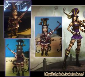 Caitlyn fimo clay - League of Legends by LadyAlerie