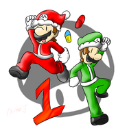 Smash Advent no. 1: Mario and Luigi by Xero-J