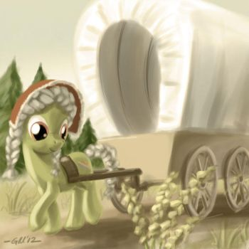NATG Day 14: A pony travelling by GiantMosquito