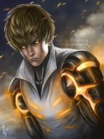 Genos The Blonde Cyborg by denn18art