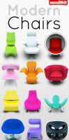Archigraphs Modern Chairs by Cyberella74