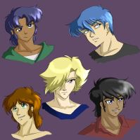 Ronin Warriors Head Shots by Ty-Chou