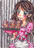 Advent calendar::06 .:Baking Christmas Cookies:. by PinkPoink