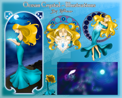 Ocean Crystal - Illustrations by JoyDreamerART