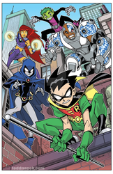 Teen Titans on patrol by ToddNauck