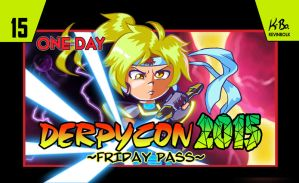 Derpycon 2015 80's 8-Bit Friday Badge Design by kevinbolk
