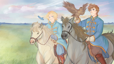 APH OCs: Oryol and Kursk [redraw?] by Zarni-In