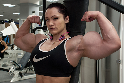 Natalya double flexing pose by within032