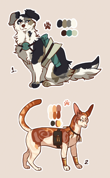 A dog and a cat adoptable closed! by Nifty-senpai