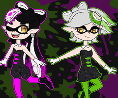 Squid Sisters - Callie and Marie by Rotommowtom
