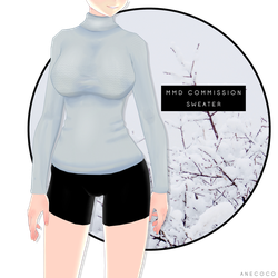 MMD - Sweater [COMMISSION] by AneCoco