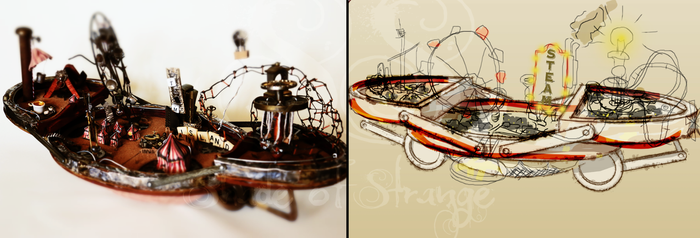 Pixar's Inside Out - Steampunk Island by SoulessStranger