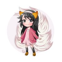 League of Legends: Yoonie (Ahri) by Crowni