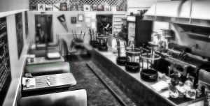 greasy spoon bw by Me-mice-elf-and-eye
