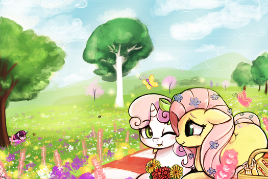 A picnic for two by luminaura