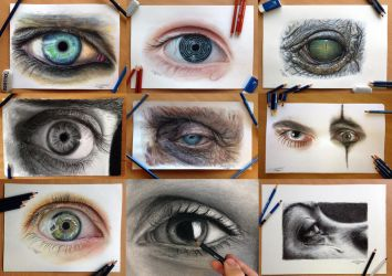 My Eye Drawings Collection by AtomiccircuS