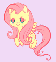 Lil Fluttershy by ChainsawTeaParty