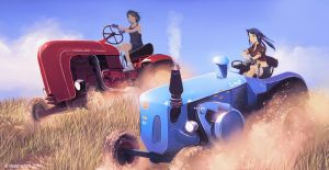 tractor race by dead-robot