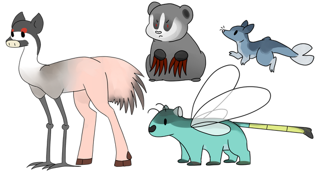 Animal Fusions by LianeART