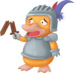 Psyduck as a knight by UszatyArbuz