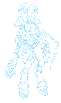 Draenei Paladin sketch by Pavagat