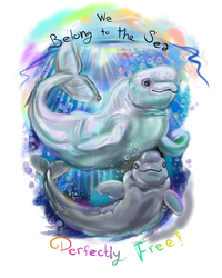 Beluga Whales for Fauna Focus by Shadowind