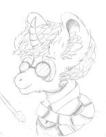 Sketch: Harry Potter/Pony crossover by Dr-Chrono