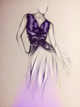 Butterfly dress by alexaink