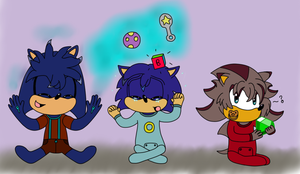 Sonic, Shadow and Silver's Boys :3 by HedgeCatDragonix