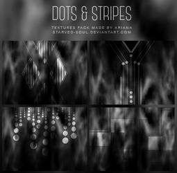 Dots + Stripes Textures Pack By Starved-soul by Starved-Soul