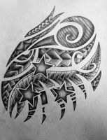 The drawing of my chest tattoo by GarrettHaddox