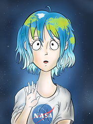 Earth-Chan (Digital) by luciano6254