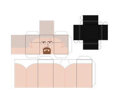Walter White / Heisenberg Paper craft Template 1 by optimaxion