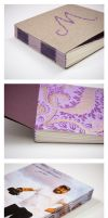 Hand Bound Longstitch Books by periwinklepinwheel