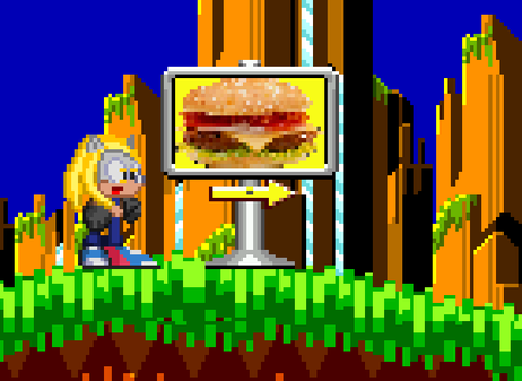 When Amanda Sees A Burger Sign by Somcothehedgehog