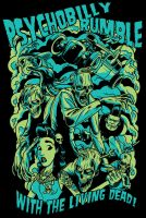 Psychobilly Rumble Shirt Design by zombie-you