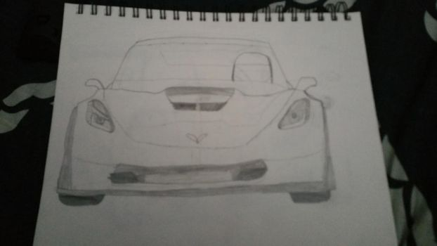 Corvette ZO6 Front View (Drawn) by RooKIEbest70
