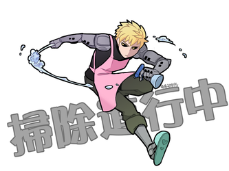 One punch man_Cleaning by aulauly7