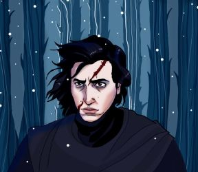 Kylo Ren and his scar by acidbetta