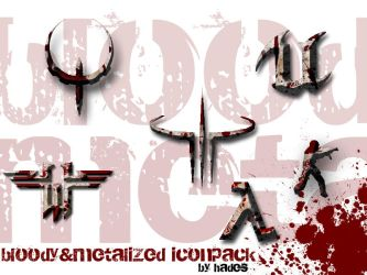 Bloody and metalized iconpack by H4D3S