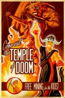 Temple of Doom Travel Poster by Hefnatron