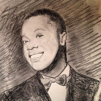 Portrait of Louis Armstrong by filmshirley