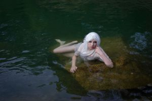 White fairy in water - stock 3 by Liancary-art