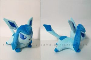 Plushie: Sleepy Glaceon by Serenity-Sama
