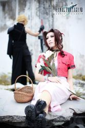 Cloud and Aerith by kiwimsia